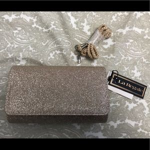 La Regale Sparkle Jacquard Clutch